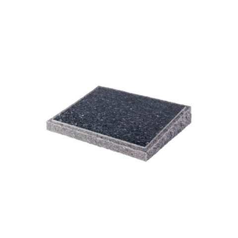 A Blue Pearl granite wedge with pitched edge.