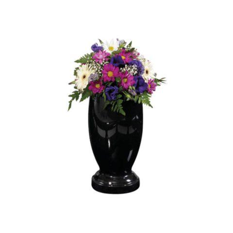 Black granite Castleton turned vase.