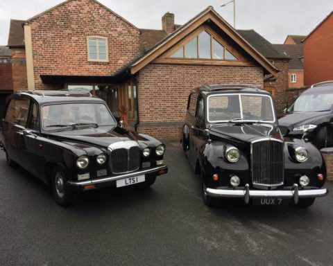 Our classic Daimler DS420 Hearse (By Thomas Startin of Birmingham) and matching Limousine offer traditional style with modern comforts. The hearse which was registered in 1993 is the last but one to be produced and has had only 2 owners from new. Our matching Limousine is able to seat up to 7 passengers. Both our 1964 Vanden Plas Hearse (By Arthur Mulliner of Birmingham) and our matching 1965 Limousine have undergone extensive restoration in our workshops and are now available to hire for  local Funerals.