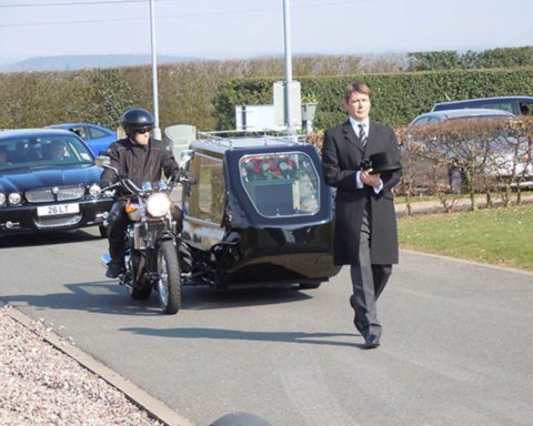 A range of Motorcycle Hearses are available including a Suzuki Hyabusa