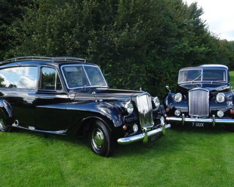 Both our 1964 Vanden Plas Hearse (By Arthur Mulliner of Birmingham) and our matching 1965 Limousine have undergone extensive restoration in our workshops and are now available to hire for  local Funerals.